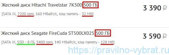 Сравнение жёстких дисков