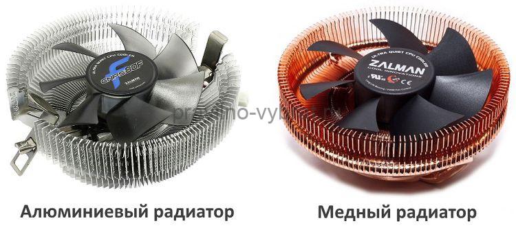 Кулера от ZALMAN с разным материалом радиатора – алюминий и медь