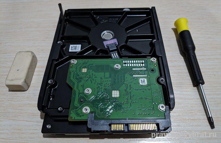 Что понадобится для чистки платы жёсткого диска